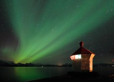 Northern-lights (Aurora borealis) over Tysfjord in Norway Photo©: Stefan Linnerhag